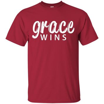 Grace Wins - Christian T-Shirt