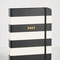 Cheer After Year 2017 Planner in Black Stripes