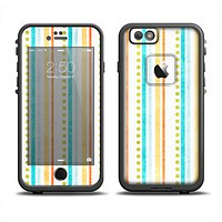 The Vintage Colored Stripes Apple iPhone 6 LifeProof Fre Case Skin Set