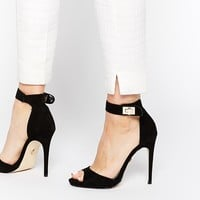 Lipsy Clara Black Barely There Heeled Sandals