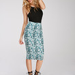 Abstract Blur Print Pencil Skirt