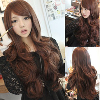 Women's Girls Sexy Long Full Wig Curly Wavy Cosplay Party Hair 3 Color New Style