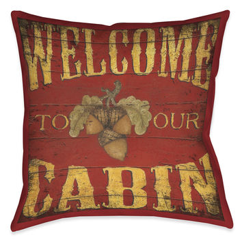 Lodge Welcome Indoor Decorative Pillow