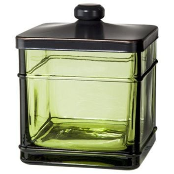 Threshold™ Antique Glass Bath Canister - Green
