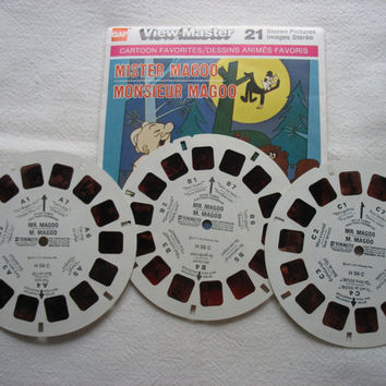 View-Master Reels Mister Magoo Monsieur Magoo In Original Package GAF ViewMaster Reels H56C