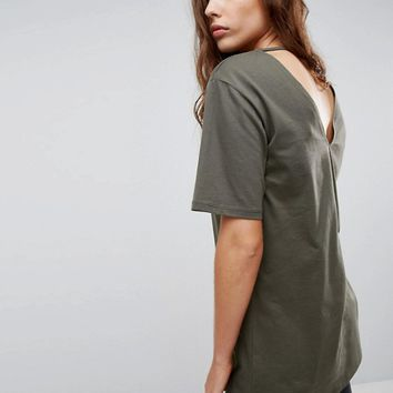 ASOS T-Shirt with Cutout Back at asos.com