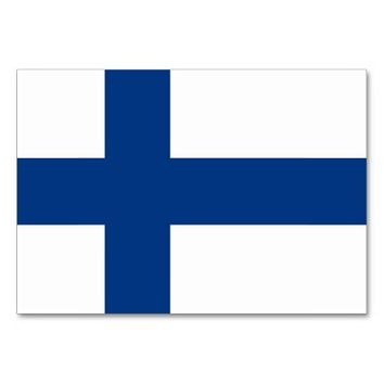 Patriotic table card with Flag of Finland