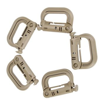 5PCS/SET Tactical MOLLE Backpack Snap D Locking Ring
