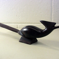 Mid-Century Wooden Sculpture Danish Modern Carved Bird