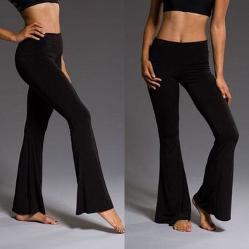 Black Velvet High Waist Dance Pants