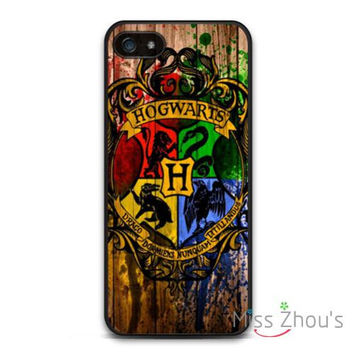 Harry Potter Hogwarts On Wood  back skins mobile cellphone cases for Samsung Galaxy mini S3/4/5/6/7 edge plus Note2/3/4/5