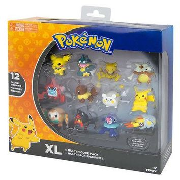 TOMY Pokemon Sun & Moon XL Multi Pack Figure Set (12-Pack) Authentic USA Seller