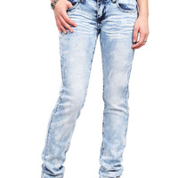 Cloudy Skies Low-Rise Straight Jeans