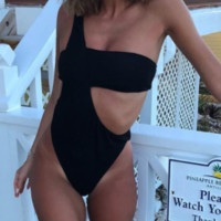 Explosive one-piece swimsuit new ladies sexy irregular one-piece swimsuit