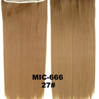 """Wig,Hair Extension,Clip in synthetic hair extension,5 clips ponytail,Heat resistance synthetic fibre,MIC-666 27#,100 g 24 """" 1PCS"""