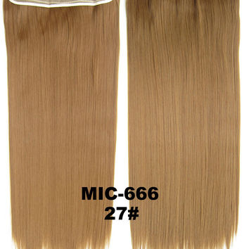 "Wig,Hair Extension,Clip in synthetic hair extension,5 clips ponytail,Heat resistance synthetic fibre,MIC-666 27#,100 g 24 "" 1PCS"