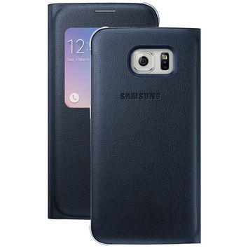 Samsung Samsung Galaxy S 6 S-view Flip Cover (black Sapphire)