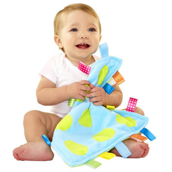 33*33cm Baby Appease Towel Taggies Multifunctional Grasping Blanket Infant Reassure Toy Newbron Comforting calm wipes Towel