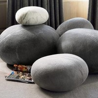 Felted Wool Stones Floor Cushions