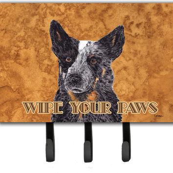 Australian Cattle Dog Wipe your Paws Leash or Key Holder