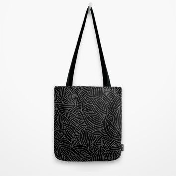 My black leaves Tote Bag by Juliagrifol Designs