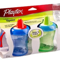 Playtex Sipsters Stage 1 Soft Spout Sippy Cups - 6 Ounce - 2 Pack