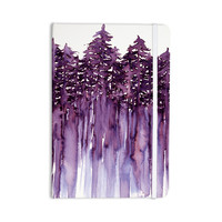 "Ebi Emporium ""Forest Through The Trees 2"" Purple White Everything Notebook"