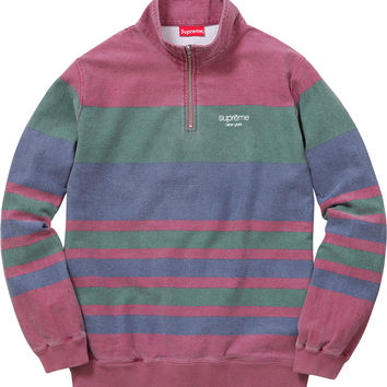 Supreme Printed Stripe Half Zip Sweat