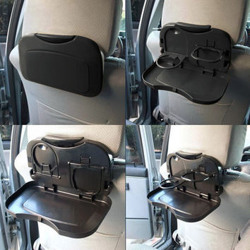 New 1pcs Folding Auto Car Back Seat Table Drink Food Cup Tray Holder Stand Desk hot selling