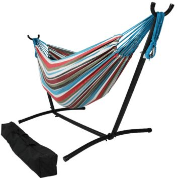 Sunnydaze Decor Cool Breeze Hammock with Adjustable Stand
