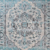 1647 Blue Distressed Oriental Area Rugs
