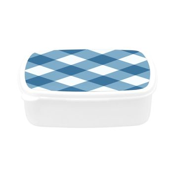 Blue Gingham Lunch Box Children's Lunch Box