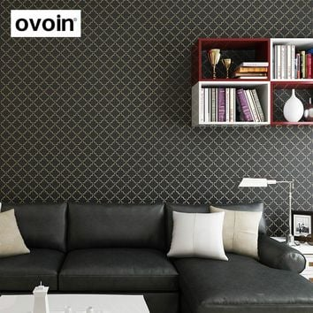 Brown,Beige,Black,White Solid Glitter Texture Wallpaper Roll Modern Trellis Pattern Non Woven Wall Paper For Bedroom Living Room