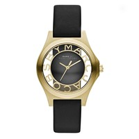Ladies' Marc by Marc Jacobs Henry Skeleton Strap Watch, Black