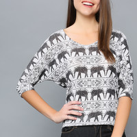 Elephant Ethnic Top