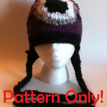PATTERN ONLY: Purple and Yellow Minion hat/beanie knitting pattern for both adults, teens, and children