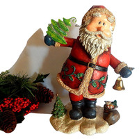 Santa Claus Music Box Animated Figurine Christmas Decor Plays Santa Claus is Coming to Town
