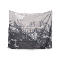 "Suzanne Carter ""Love You to The Moon"" Black White Wall Tapestry"