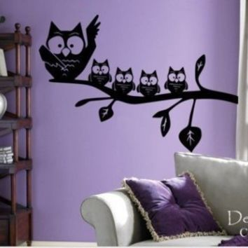 Mom With Baby Owls Wall Decal by DecorDesigns on Etsy