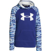 Under Armour Girls' Printed Big Logo Armour Fleece Hoody