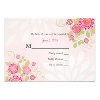 Custom Modern Floral Wedding Invitation RSVP Cards