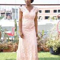 Memorable Matrimony Dress in Petal