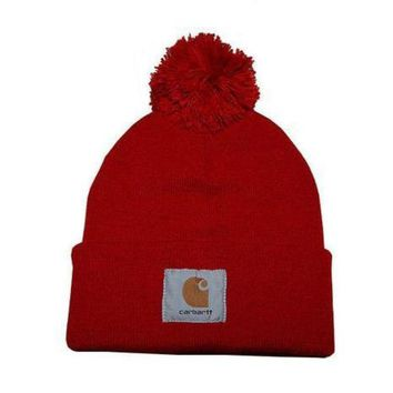 DCCKNQ2 Carhartt Women Men Embroidery Winter Beanies Knit Hat Cap