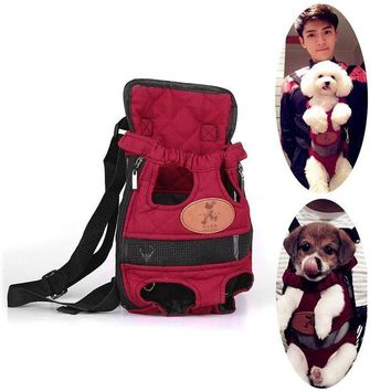 ONETOW Foldable Fashion Pet Dog Carrier Backpack Dog Carrier Bag Travel Breathable Outdoor Shopping Dog Bag two Shoulders Straps