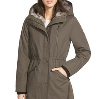 Women's Vince Camuto Faux Fur Trim Cotton Parka,