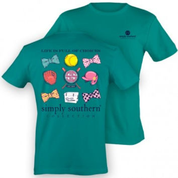 "Simply Southern ""Softball"" Tee - Blue"