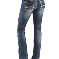 Rock & Roll Cowgirl Rival Abstract Leather Pocket Jeans - Sheplers