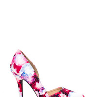 Choose A Side Pointy Floral Heels