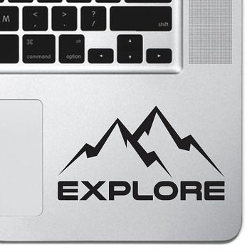 Explore Mountain Decal Macbook Sticker Laptop Decal Car Truck Decal Keyboard Keypad Mousepad Trackpad Sticker Hiking Outdoor Adventure Decal