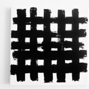 Acrylic Abstract Painting City Painting Downtown Painting Modern Art Original Black White Abstract Canvas Painting Grid Painting Lines